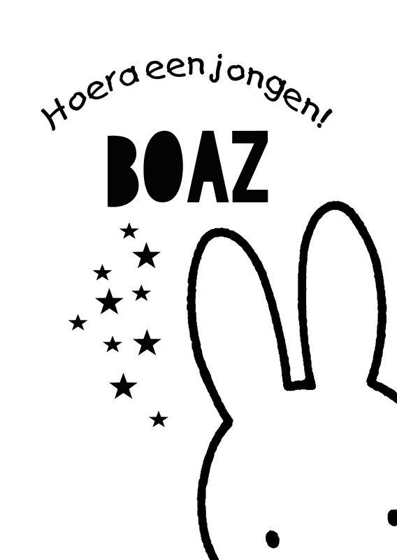 Geboortesticker type Boaz