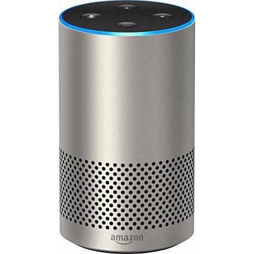Echo (2nd Generation) - Smart speaker with Alexa - Silver Finish