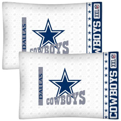 NFL Dallas Cowboys Football Set of Two Pillowcases by NFL. $21.99. Genuine licensed merchandise.. Two NFL Dallas Cowboys standard pillowcases.. Machine washable. Standard pillowcases. Go with any size bed!. Super-soft microfiber!. Two NFL Dallas Cowboys logo standard pillowcases, finished size 20 x 30 inches (51 x 76 cm).. Save 27%!