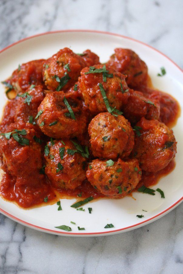 ALBONDIGAS DE POLLO Gluten-Free Italian Baked Chicken Meatballs) #AlbondigasSinGluten