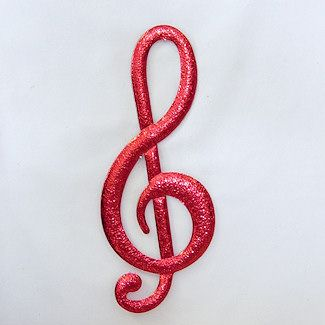 """12"""" G-Clef for music themed centerpieces and decorations. Made of foam board and finished on both sides. Choose from 18 cracked ice colors. http://www.awesomeevent.com/12-G-Clef-P484.aspx"""