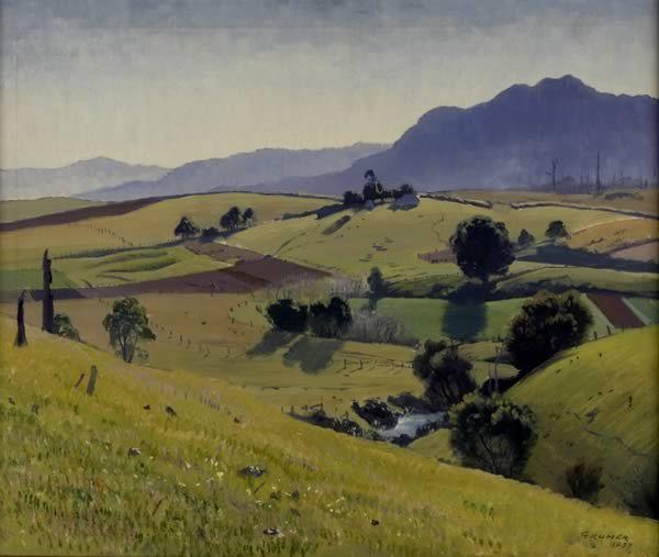 Après-midi d hiver de Elioth Gruner (1882-1939, New Zealand)