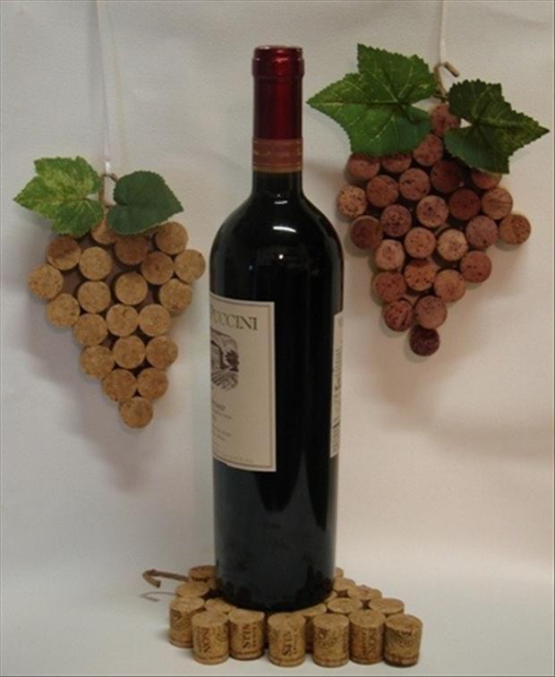 dessous plat bouchons, grappe raisin bouchons, raisin bouchons, récup bouchons liège, candle holders/or to put under wine bottles