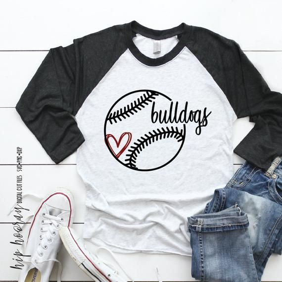 Bulldog Baseball Svg Fastpitch Softball Tshirt Heart Mom Etsy Softball Mom Shirts Softball Tees Softball Shirts