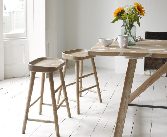Our Bumble stool is perfect for all you kitchen loiterers out there. It's made out of solid oak and is given a good sand-blasting for a lived-in feel.