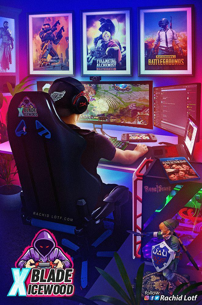 Pc Gamer Setup League Of Legends In 2020 Gamer Setup Retro Gaming Art Retro Games Wallpaper