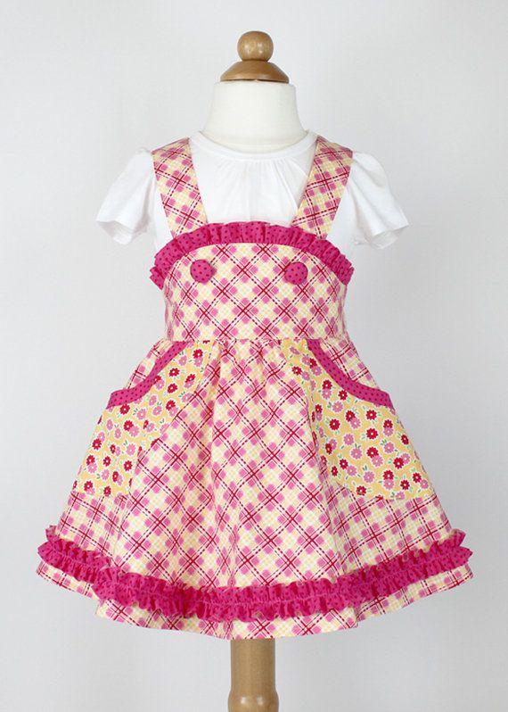Retro school jumper skirt pdf sewing by mackandlilypatterns