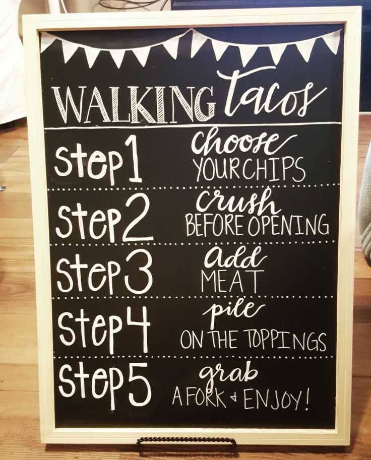 Walking tacos sign