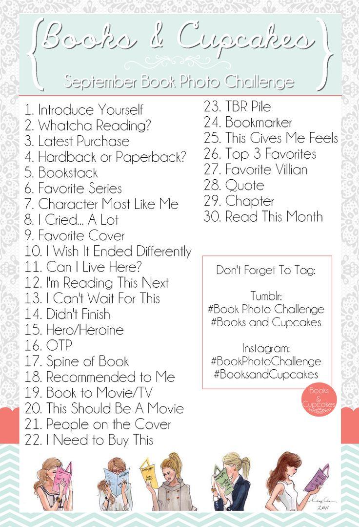September Book Photo Challenge! Books & Cupcakes