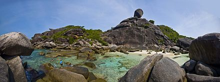 (The Great Outdoors) Diving and snorkelling off Ko Similan- The underwater scenery at this remote chain of national park islands is world-class and can be explored on appealing, small-scale live-aboards.