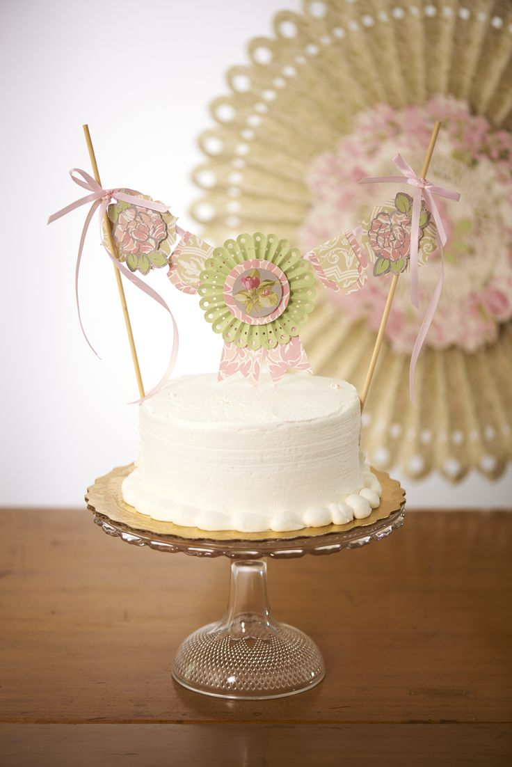 Craft up a cute cake topper with Anna Griffin party designs on the new Cricut Explore!