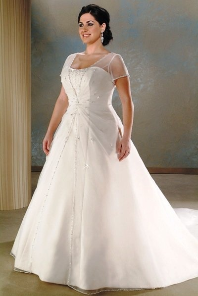 Great silver full figured wedding dresses i would like this better without the sleeves