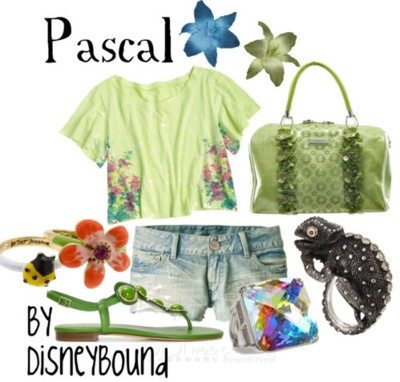 Pascal  by DisneyboundSummer Outfit, Disney Style, Fashion Style, Disney Outfit, Inspiration Outfit, Disney Inspiration, Disneybound, Disney Bound, Disney Fashion