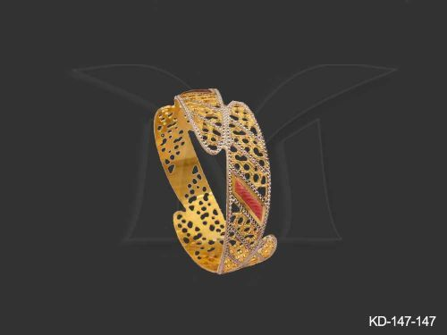 KD-147-147 || ENDS JOINT LASER CUT BANGLES