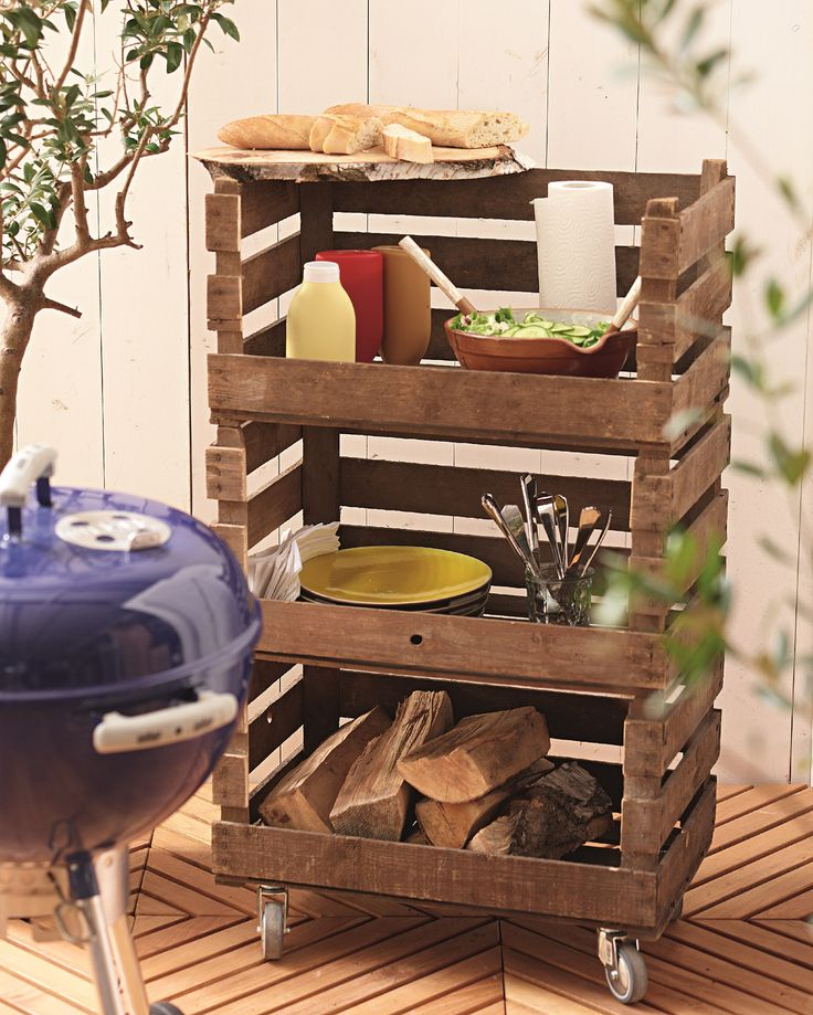 We are loving this DIY BBQ stand! So handy and a great look too! ♥ LOVED byHomely.com ♥