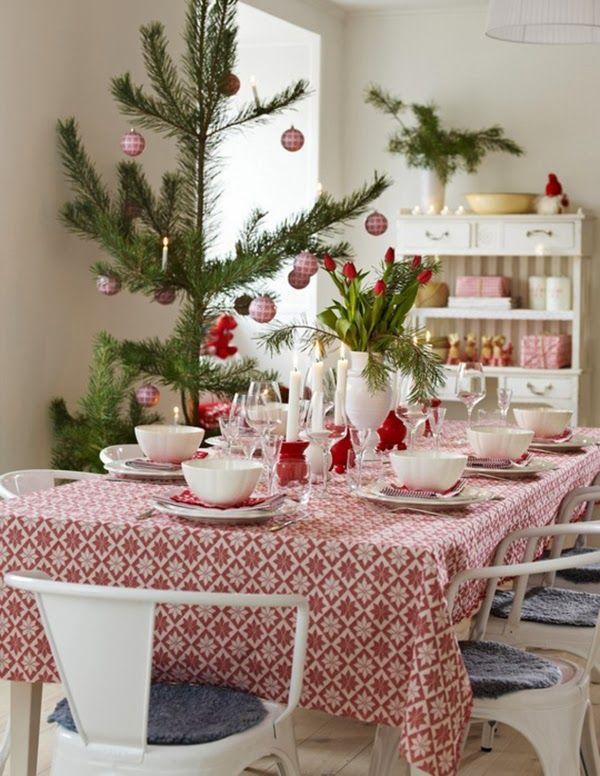 Scandinavian Christmas Table Decoration Table De No L