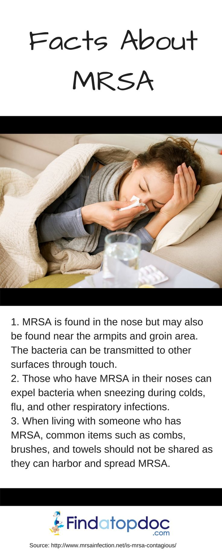 Methicillin-resistant Staphylococcus aureus (MRSA) is a bacterium that causes infections in different parts of the body. However, it's much more complex to treat than most strains of staphylococcus aureus -- or staph -- because it's resistant to many antibiotics.
