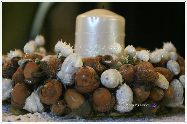 Christmas decorations, acorn wreaths