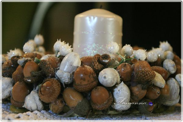 Christmas decorations, acorn wreaths