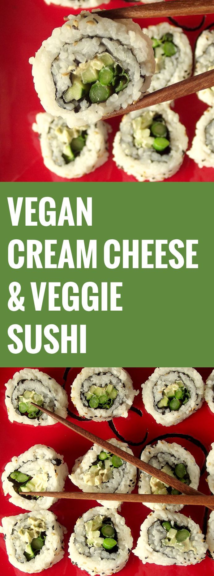 Vegan Cream Cheese and Veggie Sushi                                                                                                                                                                                 Mais