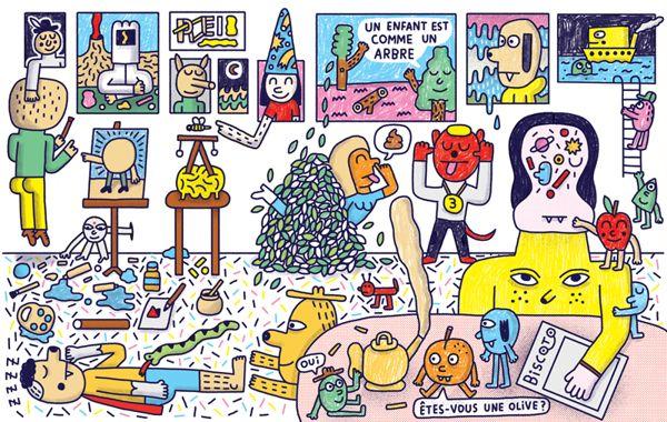 """""""Le Bazar"""" Poster by Pablo Delcielo, via Behance"""