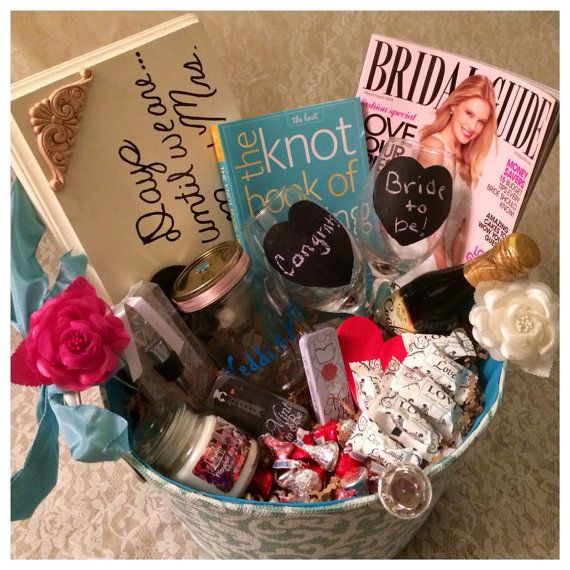 The Grande Engagement Basket by BrideToBeBaskets on Etsy, $90.00