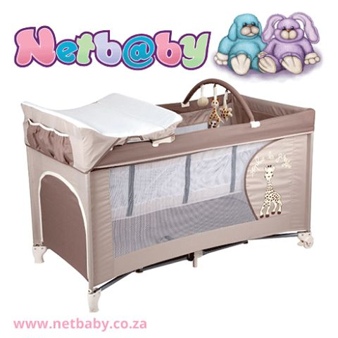 [FEATURED PRODUCT] We just LOVE this baby giraffe themed travel cot! Ideal for both boys and girls <3