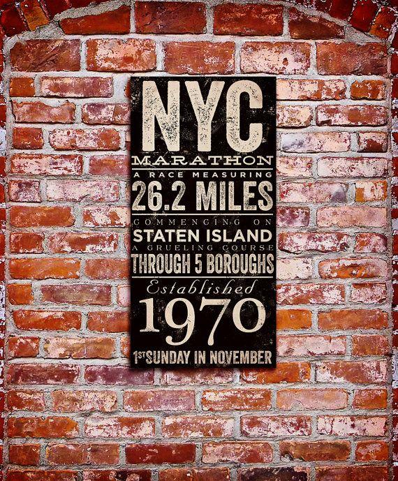 New York City Marathon original typography artwork by geministudio