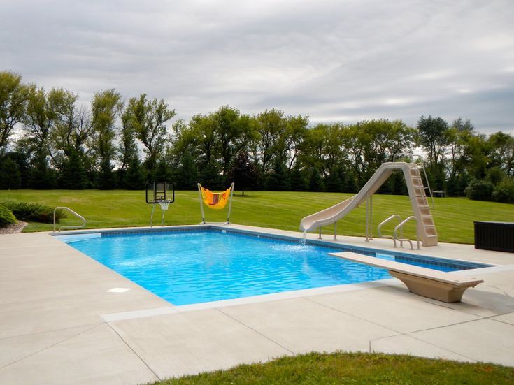 small inground pools Spaces Traditional with backyard ...