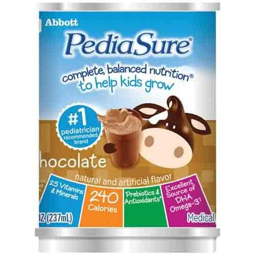 Pediasure ready to drink formula, 8oz. cans Chocolate 51882 cs/24