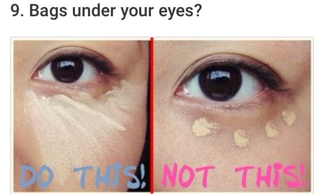 How to put on concealer properly
