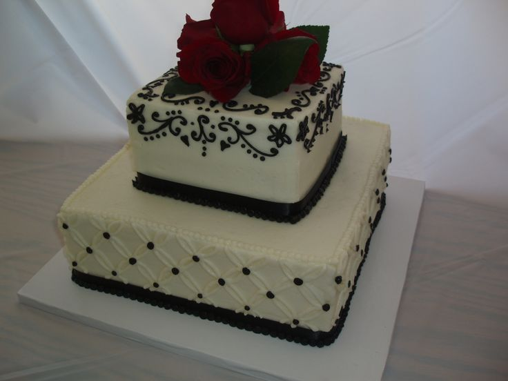 Small Square Wedding Cakes | Small Wedding Square