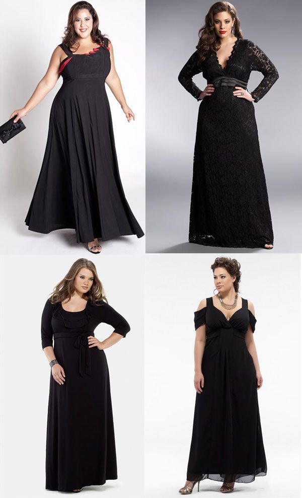 moda | modelos vestigos gg moda plus size preto Para copiar Vestidos longos ...