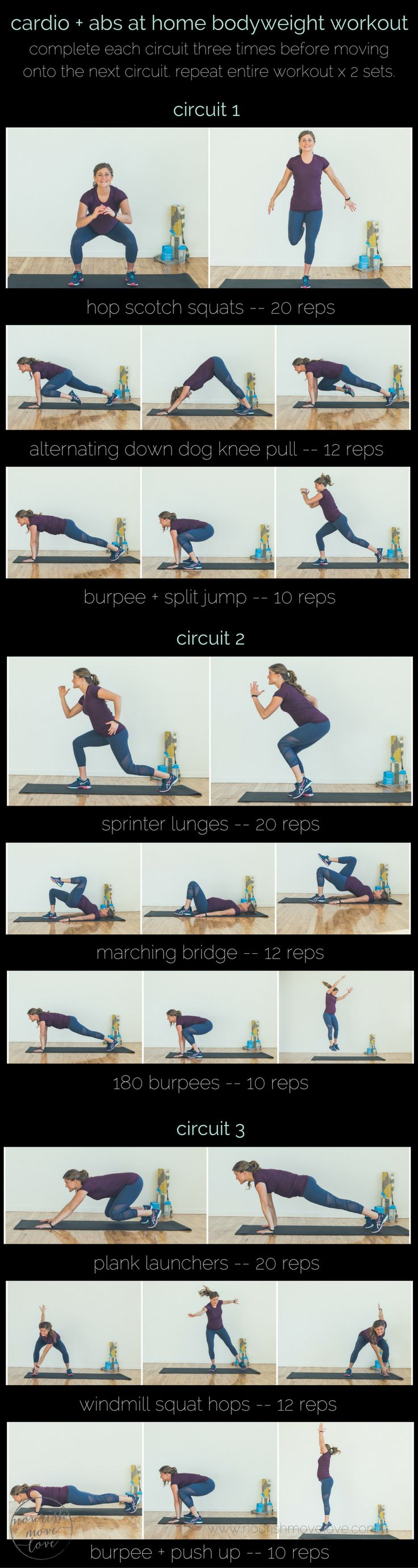 whether you're training at-home or traveling, this cardio + abs bodyweight workout consists of nine effective, no-equipment exercises that need to be part of your workout routine.