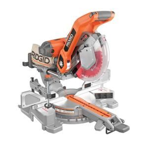 RIDGID - #MS255SR, 10 in. Sliding Compound Miter Saw with Dual Laser Guide = $400 @ http://www.homedepot.com/p/RIDGID-10-in-Sliding-Compound-Miter-Saw-with-Dual-Laser-Guide-MS255SR/203132245#.UiowNlrn_RY