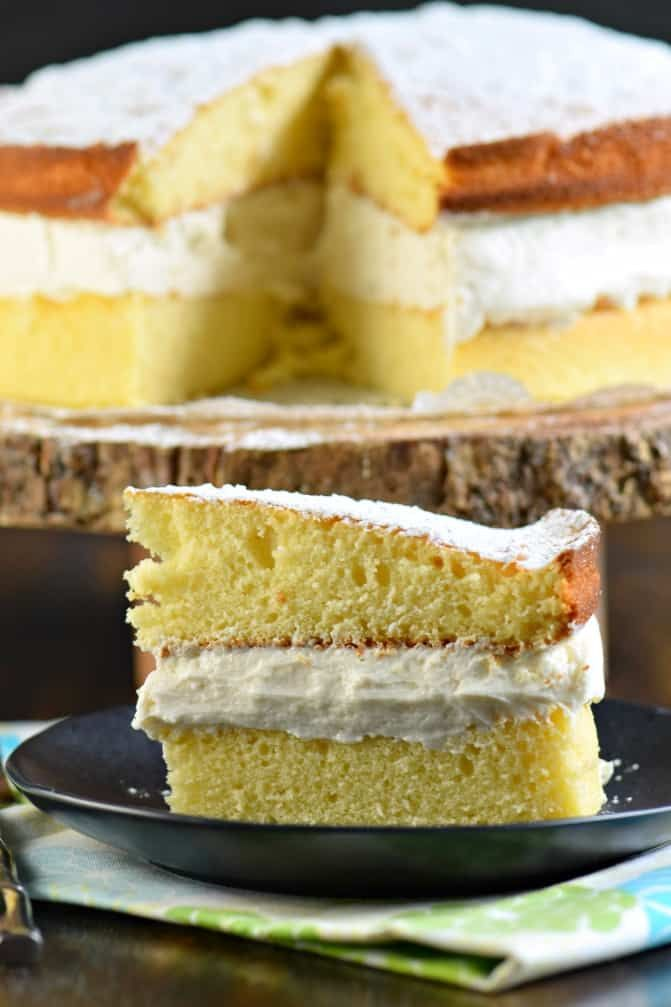 Delicious Twinkie Cake Made With Yellow Cake And Sweet Whipped