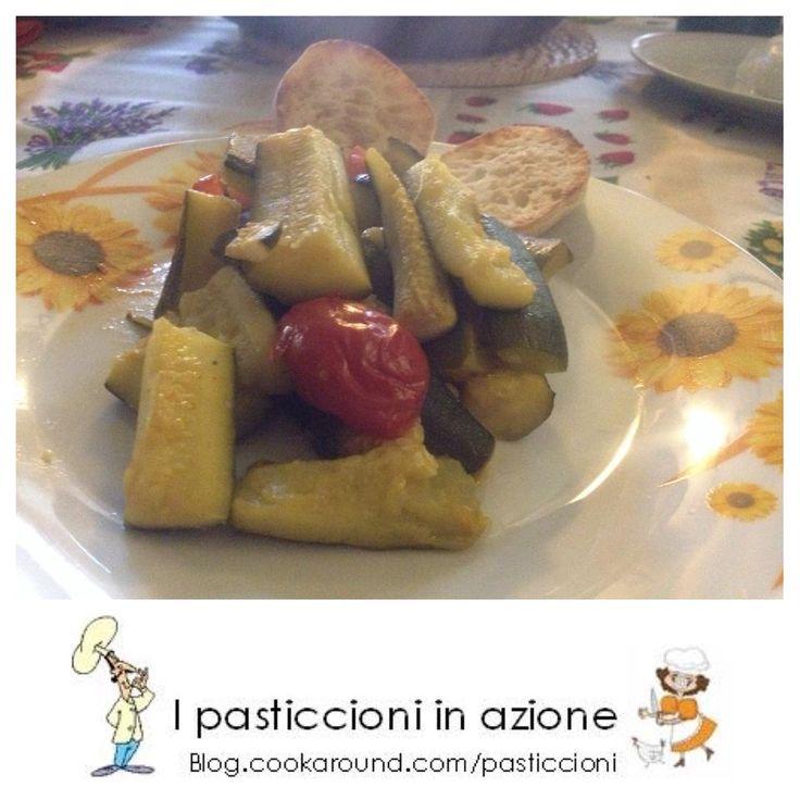 #Zucchine arrosto con #pomodorini #ipasticcioniinazione