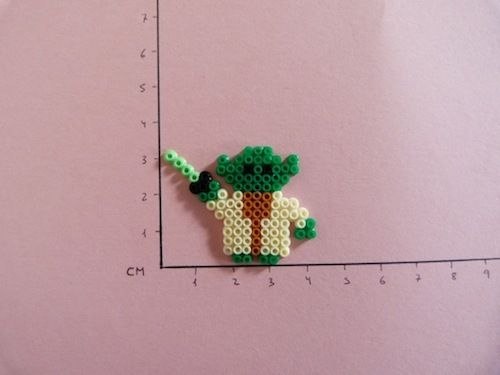 My son just made Yoda out of Hama beads inspired by this picture...except the light saber is muuch longer ;-)