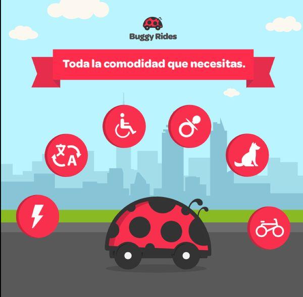 ¡Viaja con todas las comodidades que necesitas! Da clic y conoce la nueva app de transporte urbano en la #CDMX  http://buggyrides.com/