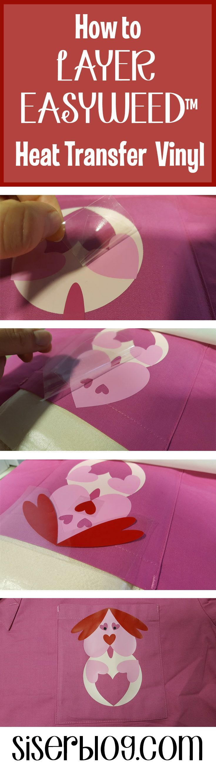 Tips for layering Siser EasyWeed™ HTV plus a free cricut design space file and how to customize scrubs.