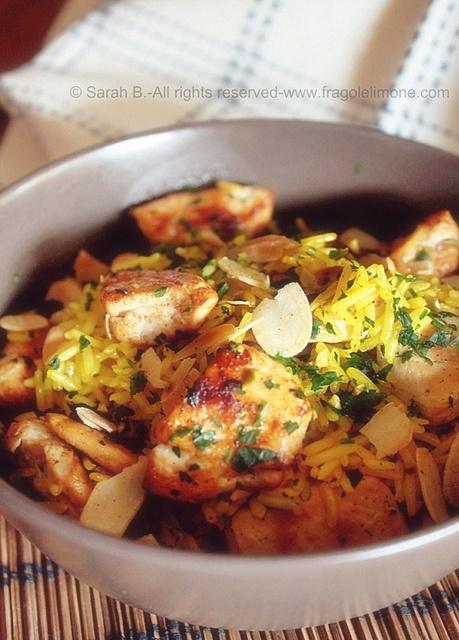 pollo alla cannella con basmati allo zafferano
