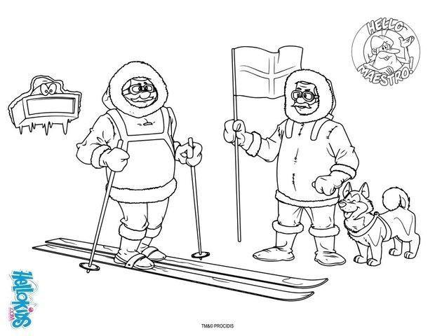 dibujo para colorear 10_knqjpg 620480 esquimales pinterest polo norte polo y invierno