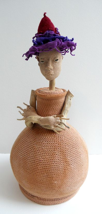 Catherine Hearse crochet sculpture-Not really into origami crochet but this little lady was so oddly whimsical, she caught my eye!
