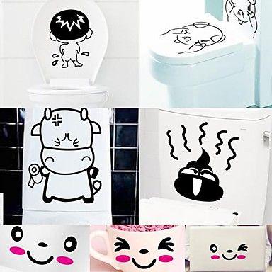 desenhos+animados+engraçados+desigh+plástico+ambiental+adesivos+livres+(x1pcs+cor)+–+BRL+R$+15,20