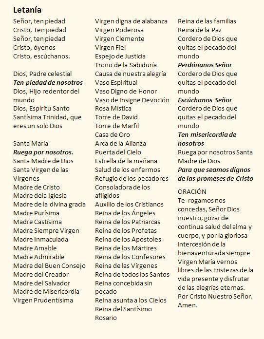 Letanías del Santo Rosario