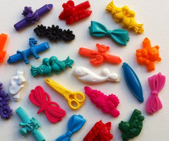Vintage Plastic Hair Clips Barrettes Mixed Lot Of 20