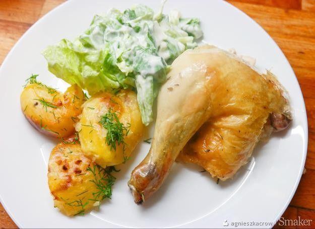 Kurczak z chrupiącą skórką - przepis Jamiego Olivera