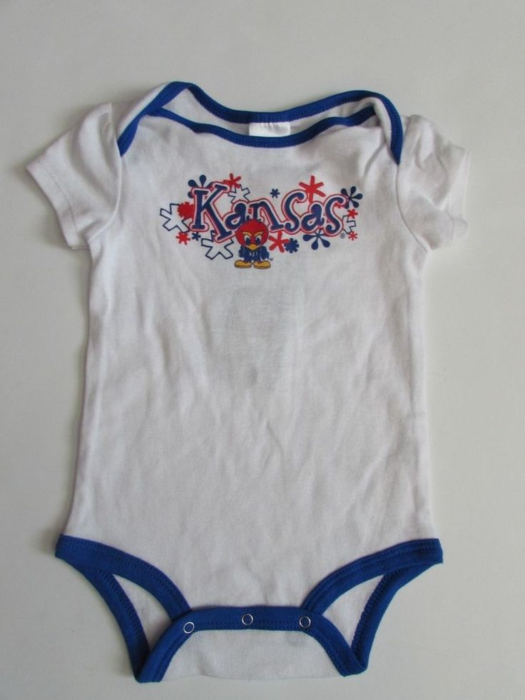 NWT University of Kansas KU Jayhawks Bodysuit Baby Infant 18 M #Russell #KansasJayhawks