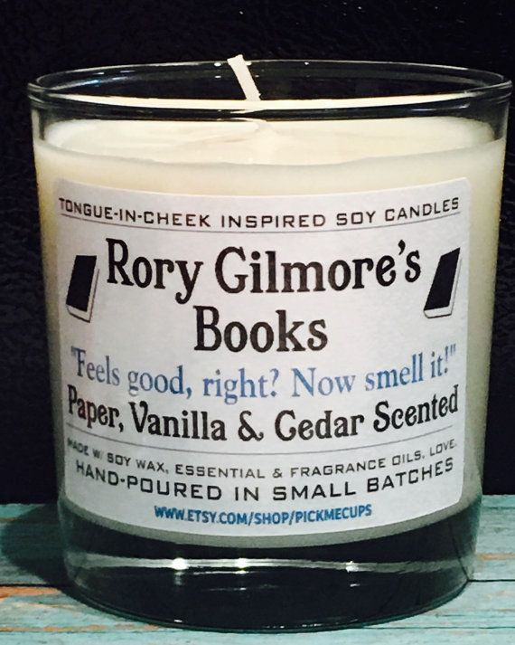 Gilmore Girls Book Soy Candle- Rory Gilmore's Books- Paper, Vanilla, Cedar Scented Candle -Gilmore Girls Gifts- Coffee Candle- Rory