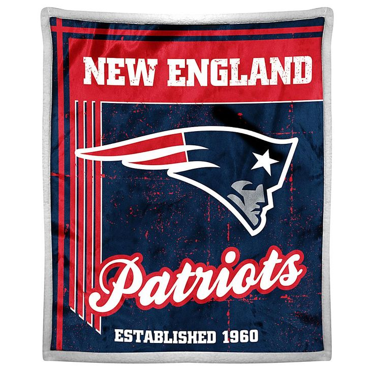 Officially Licensed NFL Patriots Sherpa Throw
